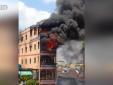 Clip toàn cảnh vụ cháy lớn gần chợ Kim Biên TP. HCM