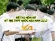 Đáp án môn Sử mã đề 306 THPT quốc gia 2017 chính xác nhất