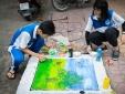 Cận cảnh những bức tranh vẽ trên nắp cống ở TP. HCM