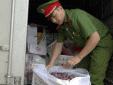 Bắt giữ 60 thùng hoa quả nhập lậu, 535 kg thực phẩm đông lạnh không rõ nguồn gốc