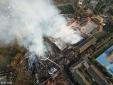 Tháp cổ 300 năm bằng gỗ cao nhất châu Á bị cháy rụi