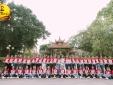 Thí sinh Hoa khôi sinh viên tươi tắn rạng ngời chuẩn bị cho đêm chung kết