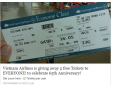 Vietnam Airlines cảnh báo hành vi giả mạo tặng vé máy bay trên mạng xã hội