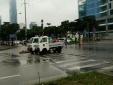"""Nam Từ Liêm - Hà Nội: Xe cảnh sát vô tư """"đè"""" luật giao thông?"""