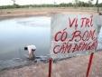 Bến Tre: Cả nhà hoang mang sống cùng quả bom nặng 300 kg dưới ao
