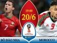 Kết quả tỷ số Bồ Đào Nha vs Maroc giải World Cup 2018: Ronaldo ghi bàn, Bồ Đào Nha giành 3 điểm