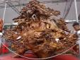 'Mãn nhãn' với pho tượng Phật Di Lặc bằng gỗ xá xị, giá 1,2 tỷ ở chợ Tết xứ Thanh