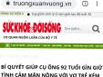 Xuất hiện website 'mạo danh' giao diện cơ quan báo chí để bán Trường Xuân Vương