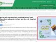 Cảnh báo thực phẩm bảo vệ sức khỏe Goga quảng cáo như thuốc chữa bệnh