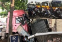 Nguyên nhân xe container đâm vào nhà dân gây tê liệt cửa ngõ Thủ đô