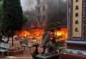 Đền Mẫu Đồng Đăng bốc cháy ngùn ngụt trong ngày mùng 5 Tết