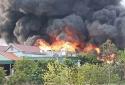 Đang cháy lớn tại công ty nhựa thông Quảng Ninh, cột khói bốc cao hàng chục mét