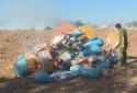 Tiêu hủy hàng loạt sản phẩm hàng hóa không rõ nguồn gốc, xuất xứ