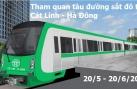 Người dân được sờ tận tay ngắm tận mắt tàu đường sắt Cát Linh - Hà Đông