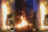 Cháy lớn bao trùm tòa nhà chi nhánh Ngân hàng NCB ở Hà Nội