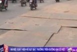 Clip: Xuất hiện 'hố tử thần' trên đường Đại Cồ Việt
