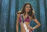 Phần thi áo tắm nóng bỏng của Phạm Hương trong bán kết Miss Universe 2015