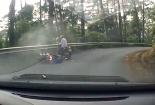 Cặp đôi bay xuống vực khi đổ đèo Tam Đảo bằng xe tay ga