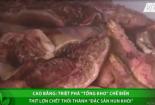 Phát hiện cơ sở chế biến thịt lợn thối thành 'đặc sản hun khói' ở Cao Bằng