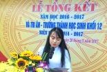 Bài phát biểu đẫm nước mắt của nữ sinh ngày từ biệt mái trường THPT