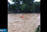 Ròng cáp treo cứu 31 người bị lũ cô lập ở Yên Bái