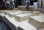 Hãi hùng quy trình chế biến đậu phụ bằng thạch cao