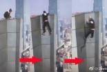 Đoạn video chính thức ghi lại cảnh diễn viên Ngô Vịnh Ninh trượt tay ngã từ tầng 62