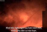 Xưởng mút cháy ngùn ngụt trong đêm ở TP.HCM