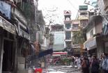 Ba người thoát khỏi đám cháy trên phố Bạch Mai Hà Nội