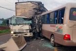 Tai nạn giao thông ở Đồng Nai: Xe khách đối đầu xe tải, 18 người nhập viện cấp cứu