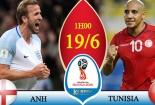 Truyền hình trực tiếp World cup 2018 trận Tunisia và Anh hãy chọn kênh có bản quyền