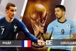 Truyền hình trực tiếp World Cup 2018 trận Pháp và Uruguay hãy chọn kênh có bản quyền