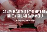 Nguy cơ ngộ độc, mắc bệnh đường ruột từ thịt nhiễm khuẩn Salmonella