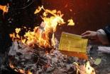 Nguy cơ cháy nổ do thắp hương, đốt vàng mã ngày tết
