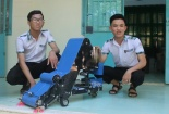 Sáng chế máy thu gom nông sản thông minh của học trò Ninh Thuận