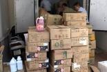 Triệt phá lô hàng trà sữa nhập lậu ở Hà Nội