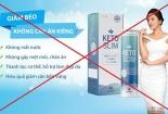 Cảnh báo về quảng cáo thực phẩm bảo vệ sức khỏe Keto Slim