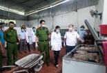 Xử phạt chủ hộ kinh doanh 1 tấn thịt lợn mang mầm bệnh