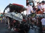Hiện trường vụ tai nạn thảm khốc ở Gia Lai khiến 10 người tử vong