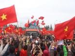 Hà Nội rợp cờ đỏ sao vàng chào đón tuyển thủ U23 Việt Nam