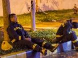 Hình ảnh lực lượng PCCC Việt Nam - Trung Quốc thức trắng đêm chiến đấu với giặc lửa