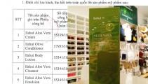Thu hồi hàng loạt mỹ phẩm do Công ty CP quốc tế Việt Hồng đưa ra thị trường