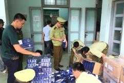 Quảng Bình: Thu giữ gần 14.000 bao thuốc lá ngoại nhập lậu