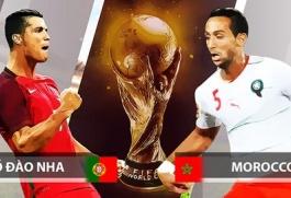 Truyền hình trực tiếp World Cup 2018 trận Bồ Đào Nha và Maroc hãy chọn kênh có bản quyền