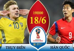 Truyền hình trực tiếp World cup 2018 trận Thụy Điển và Hàn Quốc hãy chọn kênh có bản quyền