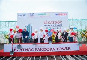 Dự án Pandora Tower 53 Triều Khúc chính thức cất nóc