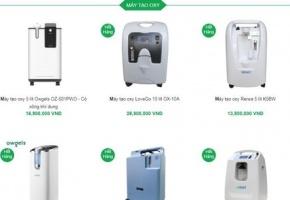 Giá máy tạo oxy và bình oxy bị đẩy lên cao