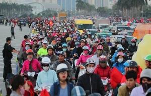 Trận Việt Nam - Indonesia: Kẹt cứng mọi ngả đường, giao thông tắc nghẽn