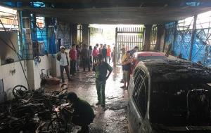 Bình Thuận: Khách sạn bốc cháy dữ dội, du khách nhảy lầu thoát thân