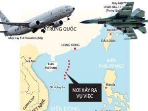 Máy bay chiến đấu Trung Quốc gây hấn máy bay trinh sát Mỹ